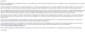 Provost's Letter