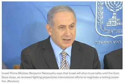 Netanyahu won't halt attacks on Gaza (8 Aug. 2014)