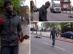Killers of Lee Rigby at Woolwich, 22 May 2013.